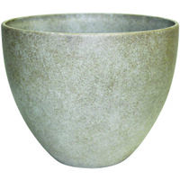 EGG PLANTER 9 IN BONE WASH