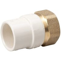 Low Lead CPVC (CTS) Slip To Brass FPT Union, 3/4""
