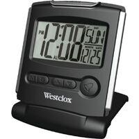 LCD Travelmate Alarm Clock, Black