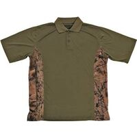 Camouflage Golf Shirt, Medium Green