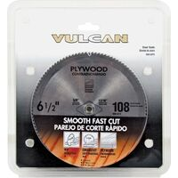 "Plywood Smooth Cut Circular Saw Blade, 6 1/2"" x 108 Teeth Steel"