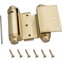 Double Action Spring Hinge, Satin Brass