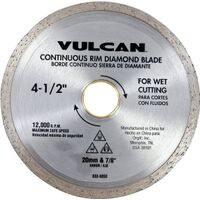 Diamond Continuous Rim Circular Saw Blade, 4 1/2""