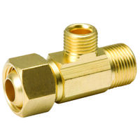 "Lead Free Brass Adapter Tee, 3/8"" x 1/4"""