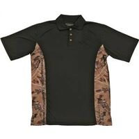 Camouflage Golf Shirt, Large Black