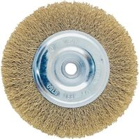 """Wire Wheel Brush with Hole Coarse, 6"""" Bass"""