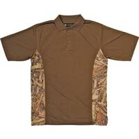 Camouflage Golf Shirt, 3X-Large Brown