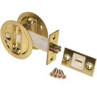 Johnson 15213PK1 Round Pocket Door Latch with Privacy Lock