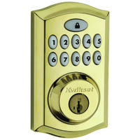 Deadbolt Keypad, Polished Brass