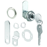 "Keyed Alike Cam Lock, 5/16"" x 5/8"" Chrome"