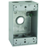 "Rectangular Outlet Box  , 5 1/2"" Gray"