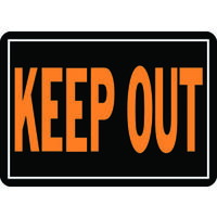 "Keep Out Sign, 10"" x 14"" Aluminum"