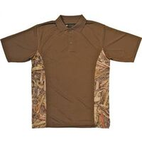 Camouflage Golf Shirt, Large Brown