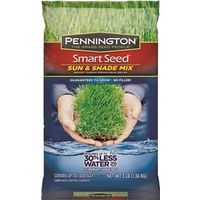 Pennington Seed 100086838 Smart Seed Grass Seed, Sun/Shade, 3 Lb