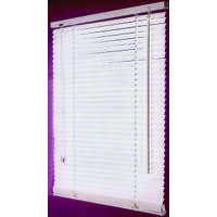 Faux Wood Blinds, 27&quot;W x 64&quot;H White