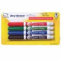 Dry Erase Markers, Medium Tip 4 Pc
