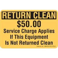 Return Clean $50 Fee Decal