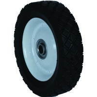 "Steel Wheel Diamond Tread Lawn Mower Wheel, 8"" x 175"