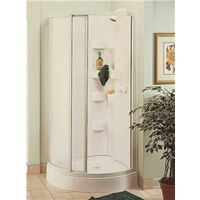 "Corner Shower Kit, 34"" x 34"" White"