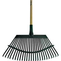 Rake Steel Head with Wood Handle, 19""