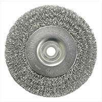 "Crimped Wire Wheel Brush, 3"" Fine"