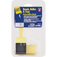 Paint Brush Roller & Tray Kit, 3 Pc