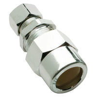 "Low Lead Straight Transitional Water Supply Line Valve, 1/2"" x 3/8"""