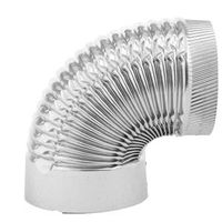 Imperial GV0326 1-Piece Corrugated Stove Pipe Elbow
