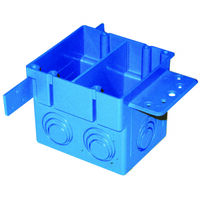 "Two Gang Square Entrance Outlet Box, 1/2"" x 3/4"""