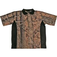 Camouflage Golf Shirt, Medium Brown