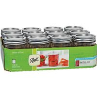 BALL REGULAR MOUTH 1/2 PINT MASON JARS W/ LIDS