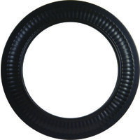"Black Stove Pipe Collar, 5"" 24 Gauge"