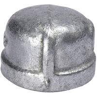 Galvanized Malleable Iron Cap, 3""