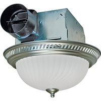 Air King DRLC702 Decorative Round Exhaust Fan/Light