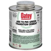 ABS/PVC Transition Cement, 16 Oz