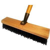 Deck Scrub Brush with Handle, 10""