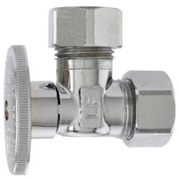 Low Lead Angle Quarter Turn Water Supply Line Valve, Chrome