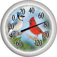 Patio Thermometer with Songbirds, 13""