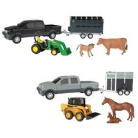John Deere Toy Pickup Truck Set w/ Animals