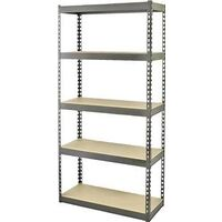 "Five Shelf Storage Rack, 12"" x 30"" x 60"" Black"