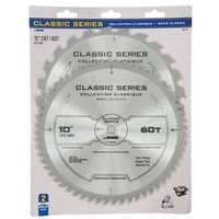 SAW BLADE 10IN 24T/60T 2PK
