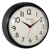 Westclox 32042BK Extra-Thick Retro Wall Clock