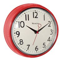 Westclox 32042R Extra-Thick Retro Wall Clock