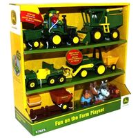 John Deere Fun on the Farm Playset, 20pc