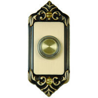 Deco Button Lighted Rim, Brass Plated