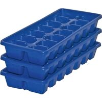 Ice Cube Tray, Blue 3 Pk