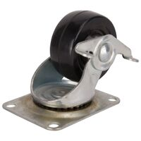 Rubber Wheel Plate Caster, 3""