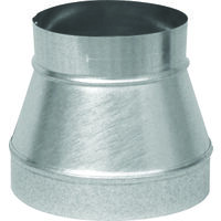 "Galvanized Reducer No Crimp, 6"" x 4"" x 26 Gauge"