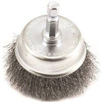 BRUSH CUP WIRE 2X.008IN 1/4HEX