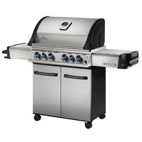 GRILL 4 BURNER W/SIDE-REAR BRN